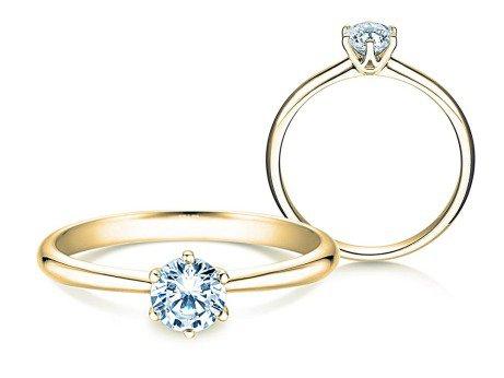 Verlobungsring Spirit<br />14K Gelbgold<br />Diamant 0,40ct