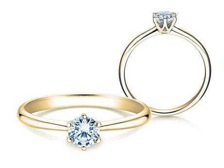 Verlobungsring Spirit<br />14K Gelbgold<br />Diamant 0,50ct