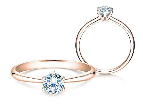 Verlobungsring Spirit<br />14K Roségold<br />Diamant 0,40ct