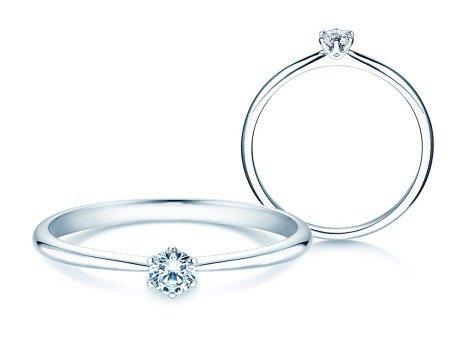 Verlobungsring Spirit<br />18K Weißgold<br />Diamant 0,20ct