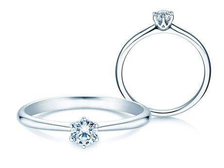Verlobungsring Spirit<br />14K Weißgold<br />Diamant 0,25ct