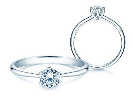 Verlobungsring Spirit<br />14K Weißgold<br />Diamant 0,40ct