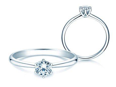 Verlobungsring Spirit<br />14K Weißgold<br />Diamant 0,50ct