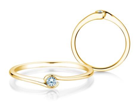 Verlobungsring Touch<br />14k Gelbgold<br />Diamant 0,04ct