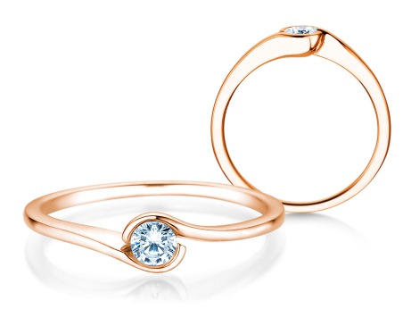 Verlobungsring Touch<br />14k Roségold<br />Diamant 0,13ct