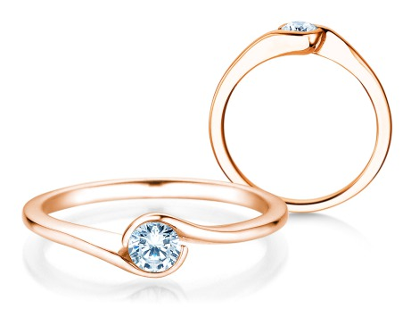 Verlobungsring Touch<br />18k Roségold<br />Diamant 0,23ct