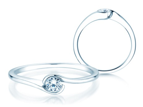 Verlobungsring Touch<br />Silber<br />Diamant 0,13ct