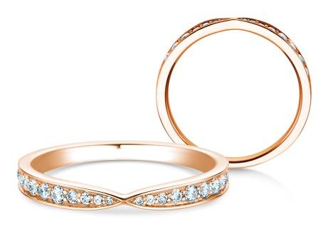 Verlobungsring V-Eternity<br />18k Roségold<br />Diamant 0,30ct