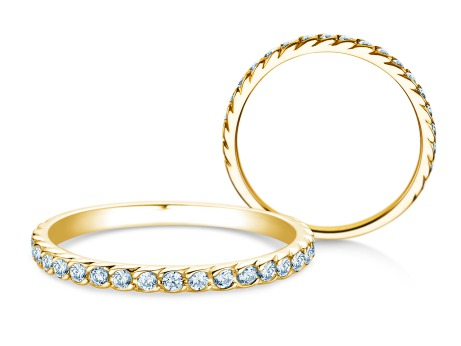 Verlobungsring Wave<br />18k Gelbgold<br />Diamant 0,33ct