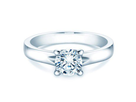 Verlobungsring Romance<br />14K Weißgold<br />Diamant 1,00ct