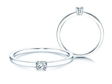 Verlobungsring Modern Petite<br />14K Weißgold<br />Diamant 0,08ct