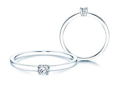 Verlobungsring Modern Petite<br />14K Weißgold<br />Diamant 0,11ct