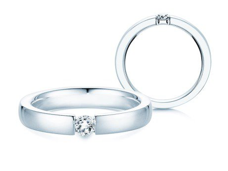 Verlobungsring Infinity<br />Silber<br />Diamant 0,15ct