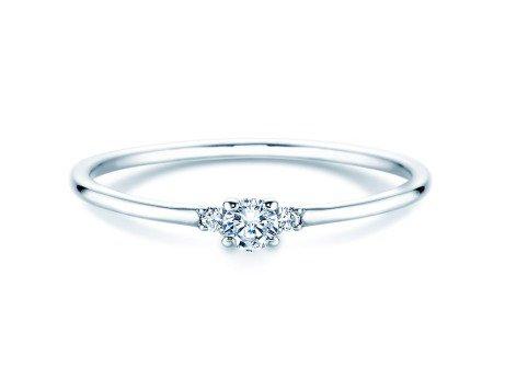 Verlobungsring Glory Petite<br />14K Weißgold<br />Diamanten 0,10ct