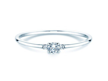 Verlobungsring Glory Petite in Platin mit Diamanten 0,10ct