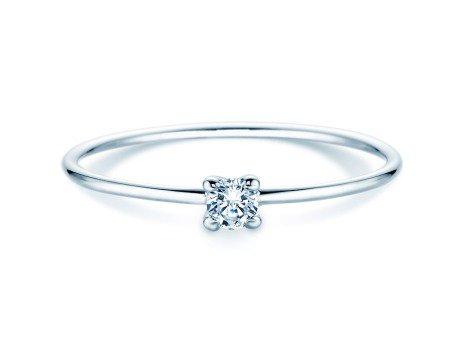 Verlobungsring Modern Petite in 18K Weißgold mit Diamant 0,10ct