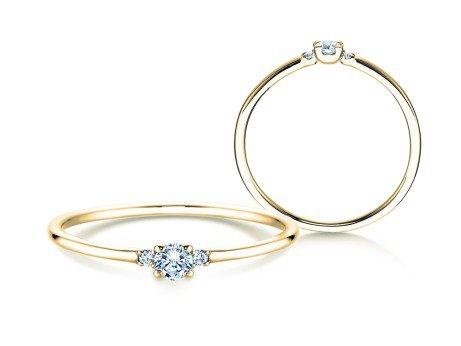 Verlobungsring Glory Petite<br />14K Gelbgold<br />Diamanten 0.10ct