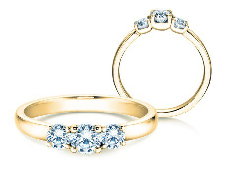 Verlobungsring Glory Petite<br />14K Gelbgold<br />Diamanten 0,60ct