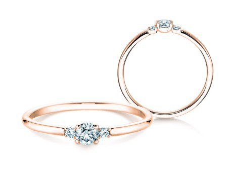 Verlobungsring Glory Petite<br />18K Roségold<br />Diamanten 0,20ct