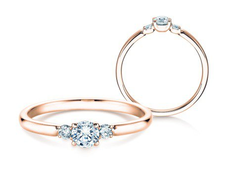 Verlobungsring Glory Petite<br />14K Roségold<br />Diamanten 0,30ct