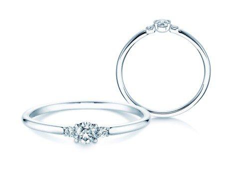 Verlobungsring Glory Petite<br />18K Weißgold<br />Diamanten 0,20ct