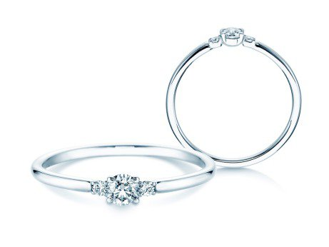 Verlobungsring Glory Petite in Platin mit Diamanten 0,20ct