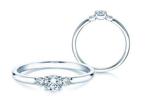 Verlobungsring Glory Petite<br />14K Weißgold<br />Diamanten 0,30ct