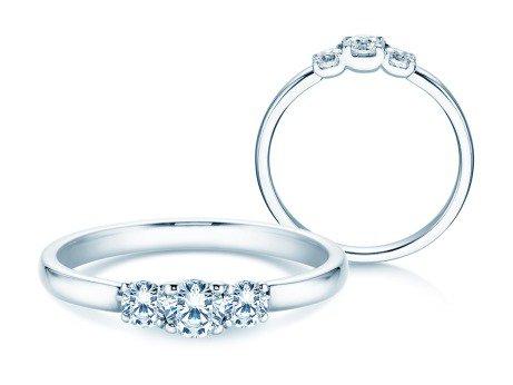 Verlobungsring Glory Petite<br />14K Weißgold<br />Diamanten 0,40ct