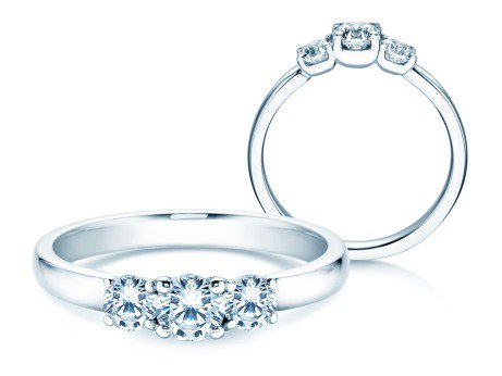 Verlobungsring Glory Petite in 14K Weißgold mit Diamanten 0,60ct