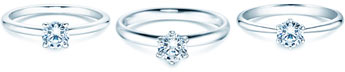 Solitärringe  – klassisch mit einem Diamant