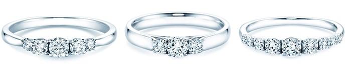 3+ Steine  – Verlobungsringe mit 3 Edelsteinen und mehr