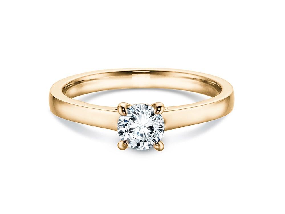 verlobungsring romance in 18 karat gelbgold 750 mit diamant 0 50 karat. Black Bedroom Furniture Sets. Home Design Ideas
