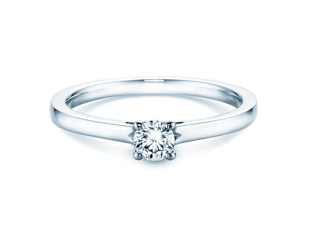 verlobungsring romance in platin mit diamant 0 25ct. Black Bedroom Furniture Sets. Home Design Ideas