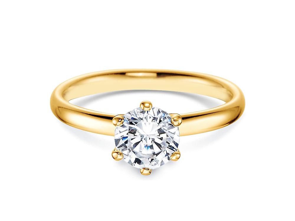 verlobungsring classic in 14 karat gelbgold 585 mit diamant 1 00 karat. Black Bedroom Furniture Sets. Home Design Ideas