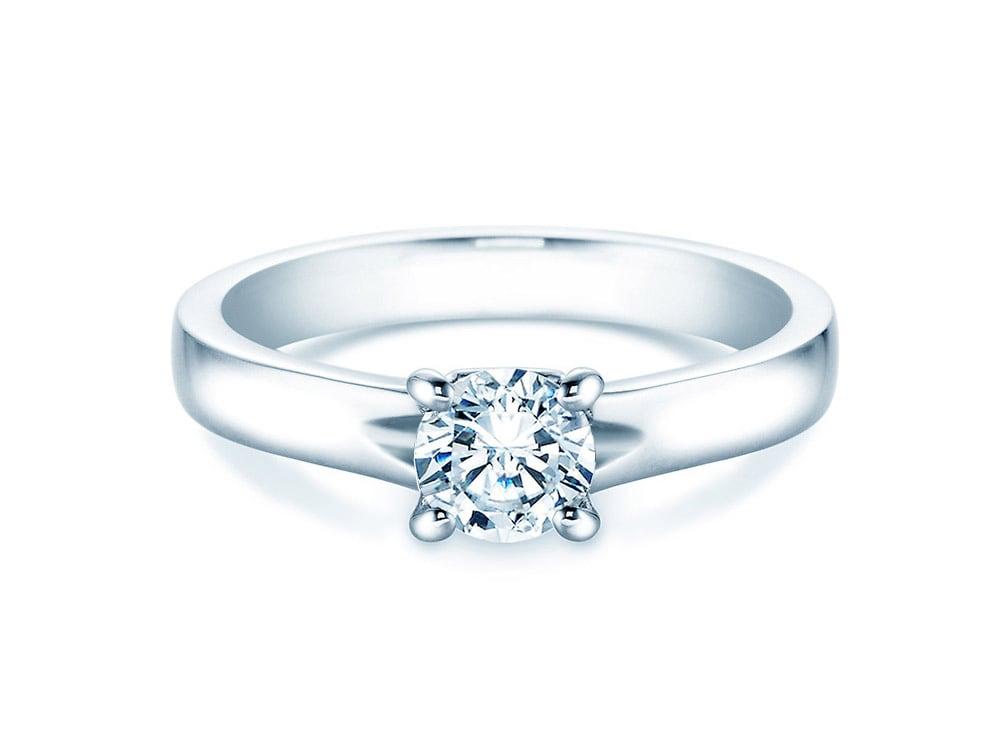 verlobungsring romance in 18k wei gold mit diamant 0 75ct. Black Bedroom Furniture Sets. Home Design Ideas