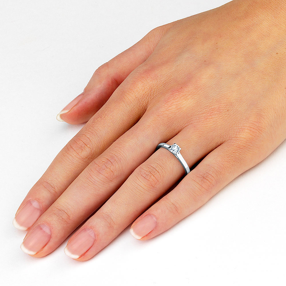 Carat Diamond Ring On Finger