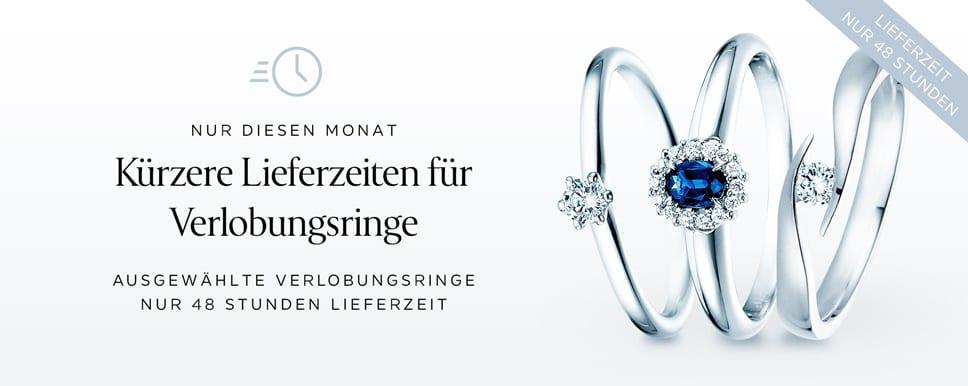 48h – sofort verfügbare Verlobungsringe Online-Shop