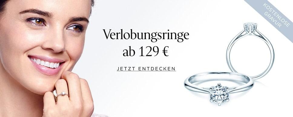 Diamant-Verlobungsringe ab 129,- Euro online kaufen
