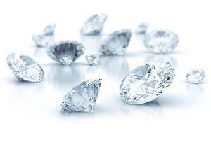 Diamantqualität (z.B. H/SI, G/SI, G/VS, G/IF) unter der Lupe bei 10facher Vergrößerung