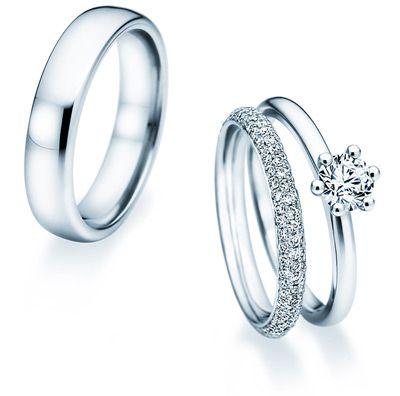 Eheringe und Weißgold Verlobungsringe