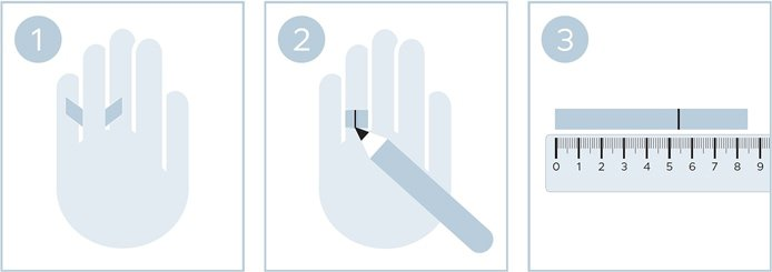 Ringgröße ermitteln ohne Ring mit Papierstreifen
