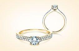 Verlobungsringe Gelbgold mit Diamant online kaufen